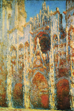 Claude Monet - Rouen Cathedral: The Facade at Sunset (1894) Canvas Poster 16x24