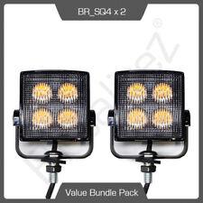 2 x SQ4 LED Directional Warning Light Beacon For Recovery Lightbar Strobe 12/24V