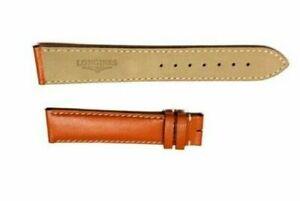 Original Longines 21 X 18 mm Tan Orange Genuine Leather Watch Band Strap