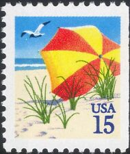 USA 1990 Beach/Sun Umbrella/Holidays/Birds/Nature/Leisure 1v ex bklt (n46013)