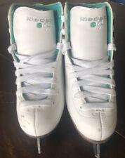 Riedell ice skates women's SizeJ13 Stock 10W white opal medium