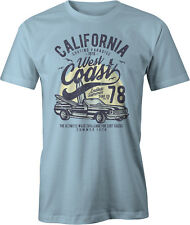 California West Coast Surfing Muscle Car T Shirt