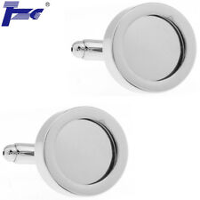 Men Photo Inside Frame Shirt Cufflinks With Velvet Bag TZG Cuff Links