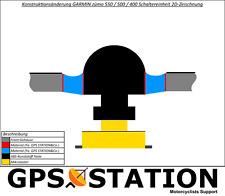 Gummitasten GARMIN zumo 550 400 Tasten / Keypads / Rubber / Front Case / Gehäuse