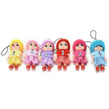 5 Pcs Kids Toys Soft Interactive Baby Toy Mini Doll Mobile Phone Accessory NB