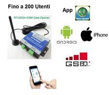 ATTIVATORE APRICANCELLO TELECONTROLLO RELE' GSM SIM DOMOTICA ANDROID IPHONE SMS