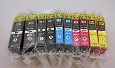 10PK PGI220 CLI221 Ink Cartridge for Canon Pixma MP990 MP980 MX870 MX860 iP4680