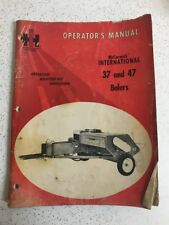 Used Vintage International McCormick 37 & 47 Balers Operators Manual