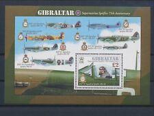 LL93524 Gibraltar aviation aircraft airplanes good sheet MNH