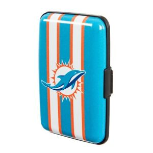 Miami Dolphins Hard Case Wallet Card Holder - Authentic NFL Product