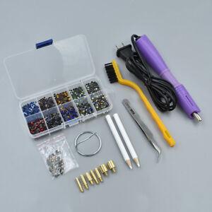 Functional Rhinestone Setter Hot Fix Stud Applicator Wand Heater Tool Kit Set