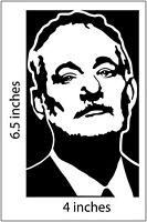 BILL MURRAY Sticker BLACK Cut Vinyl Decal