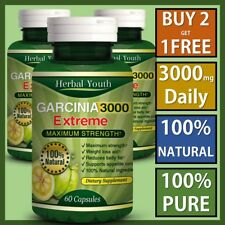 3000mg Daily GARCINIA CAMBOGIA Vegetarian Extreme Diet Weight Loss Slimming Pill