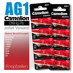 Camelion AG1 LR621 LR60 164 GP64A 364 SR621 SR621W Knopfzellen MHD bis 10-2025