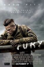 FURY ~ ONE SHEET ~ 27x40 ORIGINAL MOVIE POSTER ~ BRAD PITT ~ Tank World War II