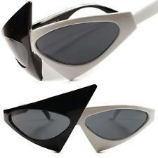 White Black Fancy Celebrity Unique Vintage Retro Funky Womens Cat Eye Sunglasses