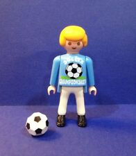 PLAYMOBIL STREET SOCCER PLAYER & BALL from Set 3868 - Figure Only ~ Sports ~