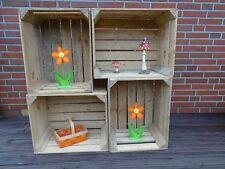 4er-Set gebrauchte Apfelkisten in Natur Holzkiste/ Obstkiste/ Weinkiste