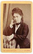 CDV PHOTO DE LAVIETER LA HAYE PAYS BAS EUGÉNIE GUILLOT à Mme DÉLECHAUX 1878 L361