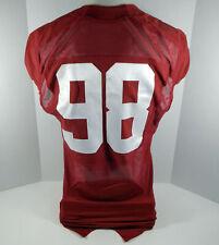 2009-15 Alabama Crimson Tide #98 Game Used Red Jersey BAMA00318