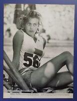 Gunhild Larking Sexy Swedish Olympic Athlete 1956 Melbourne Magazine Photo