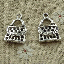 free ship 180 pieces tibetan silver handbag charms 21x14mm #3647