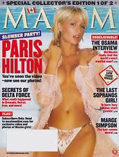 Maxim Magazine April 2004 Paris Hilton Allison Dunbar The Osama Interview
