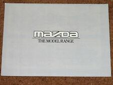 1985 MAZDA RANGE Brochure - 323, 323 Estate RWD, 626, 929, B2000, E2000, E2200