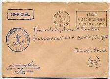 LETTRE MARINE MILITAIRE BREST POUR TOULON 1970 FLAMME