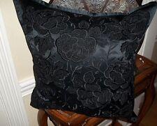 New Ralph Lauren Annison Black Embroidered 20x20 Decorative Bed Pillow $355