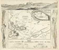 1832 S.D.U.K. Subscriber's Edition Map or City Plan of Athens, Greece