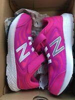 New Balance Kid's 519 V1 Lace-Up Running Shoe, Peony/White, Sz 3 US Big Kid