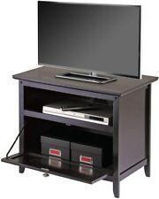 Brown Wooden Media TV Stand Open Shelf Display Cabinet Living Room Kids Furnitur