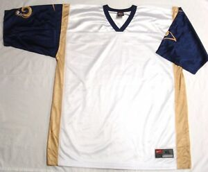 St. Louis Los Angeles Rams NFL Football Jersey Throwback Blank White NEW