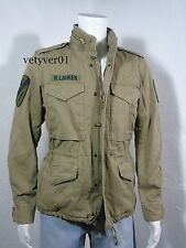 NWT RALPH LAUREN D&S Combat/Military/Field Cotton/Patches Jacket OD Green size L
