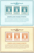 Greenland All 19 Official Government Pakke Porto reprint sheets and sheetlets