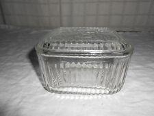 Vintage federal glass fruit refrigerator jar clear