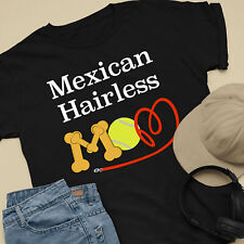 Mexican Hairless Dog Mom and Dad Comfy Cute Dog Lover T-Shirt