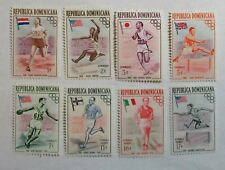 DOMINICAN REPUBLIC  SET of  8 MINT NH OG   ISSUED 1957 OLYMPICS Sc#Un/Ckd