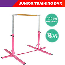 Training Bar Junior Horizontal Bar Gymnastics Indoor Sports Adjustable Pink