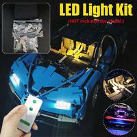 LED Light Lighting Kit For LEGO 42083 Bugatti Chiron Technic Set With Remote