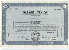 Stock Certificate - National Tea Co. - cancelled 10-22-1951