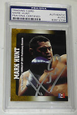Mark Hunt Signed 2001 Epoch K-1 Grand Prix Rookie Card #97 PSA/DNA RC UFC Pride