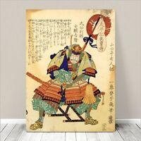"Vintage Japanese SAMURAI WARRIOR Art CANVAS PRINT 24x18""~ Kuniyoshi  #024"