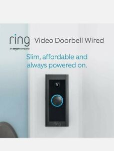 Ring Video Doorbell Wired by Amazon - HD Video + Advanced Motion Detection BNIB