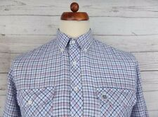 Vintage L-Sleeve Button Down Check 90s Shirt Indie Casual -L- CJ38