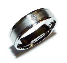 Completamente marchiato platino e diamante 5mm WEDDING BAND (UK: o) (era £ 669.99)