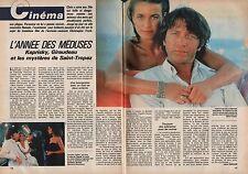 Coupure de presse Clipping 1984 Valérie Kaprisky & Bernard Giraudeau (2 pages)
