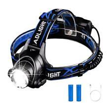 LED Headlamp Headlight Head Torch USB Rechargeable Zoomable Flashlight 800 Lumen
