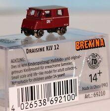 Brekina 69210, Spur N, DB Draisine Klv 12, 2achs., rot, Ep. 3, Dummy